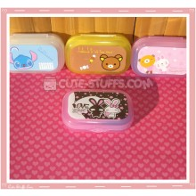 Kawaii Pastel Travel Lens Case or Trinket Box! - Love Rabbit