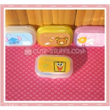 Kawaii Pastel Travel Lens Case or Trinket Box! - Spongebob Face Yellow