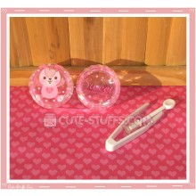 Kawaii Sweet Bunny Pink Single Contact Lens Case