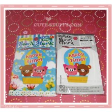 Kawaii Bear & Pig Double Sided Book Mark