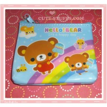 Kawaii Hello Bear Blue Coin Purse!