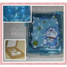 Kawaii Blue Doraemon Large Contact Lens Case