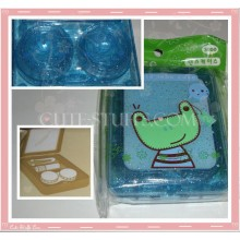Kawaii Blue Frog Large Contact Lens Case