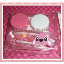 Kawaii Mini Travel Lens Case or Trinket Box! - Pink Stitch