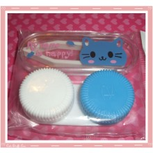 Kawaii Mini Travel Lens Case or Trinket Box! - Blue Kitty Cat