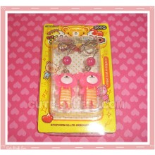 Kawaii Pink Bear Clip-On Earrings