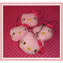 Kawaii Hello Kitty Pink Plush Phone Strap