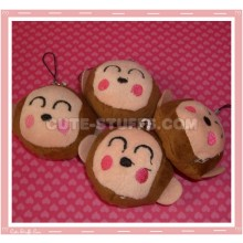 Kawaii Monkey Head Phone Strap