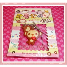 Kawaii Unique Monkey w/ Heart Phone Strap! Full