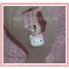 Kawaii Hello Kitty Brass Bell - Pink Bow