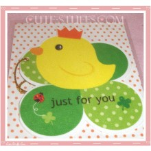 Kawaii Chicken Tag Card