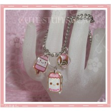 Kawaii 3pc Cute Milk w/ Cookie & Popsicle Necklace