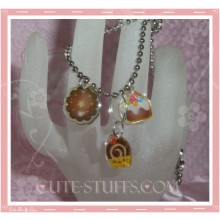 Kawaii 3pc Cute Cupcakes Necklace