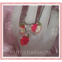 Kawaii 3pc Cute Apples Necklace