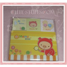 Kawaii Piggy Memo Pad 4 pc. Mini Set