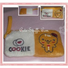 Kawaii Gingerbread Cookie Man Plush Coin Purse