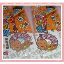 Kawaii Unique Beaded Gingerbread Cookie Enamel Phone Strap! Rare!