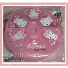 Kawaii Pink Milk Pill or Trinket Box Round