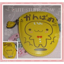 Kawaii Gingerbread Cookie Man Leather Pouch