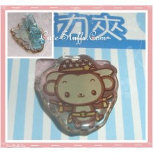 Kawaii Monkey Glitter Pin Badge