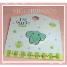 Kawaii Elephant Pin Badge