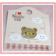Kawaii Bear or Rilakkuma Pin Badge