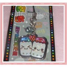 Kawaii Unique Happy Milk & Sugar Enamel Phone Strap! Rare!