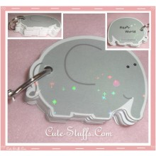 Kawaii Elephant Memo Card Set w/ Ring Clip