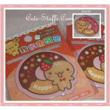 Kawaii Gingerbread Cookie Man w/ Donut Double Sided Book Mark