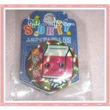 Kawaii Red Milk Carton Pin Badge