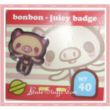 Kawaii bonbon juicy Piggy Pin Badge