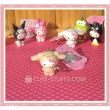 Kawaii Hello Kitty Costume Keychain - Cinnamoroll Brown