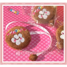 Kawaii Plush Retractable Tape Measure Ruler - Happy Cloud - Brown