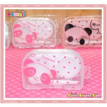 Kawaii Translucent Travel Lens Case or Trinket Box! - Tarepanda Clear