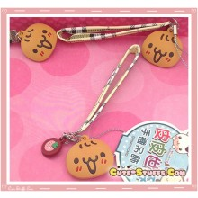 Kawaii Unique Cookie Head Strap Charm w/ Wrist Strap!