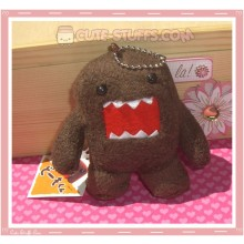 Large Kawaii Brown Domo Kun Keychain or Phone Strap