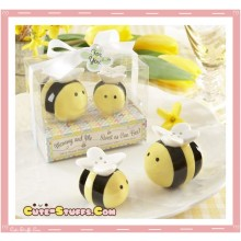 Kawaii Rare Honey Bee Salt & Pepper Matching Shakers!