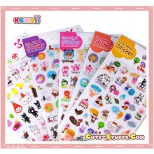 Kawaii Epoxy Glossy 1 Sheet Rare Stickers!