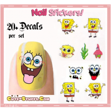 Rare Kawaii Nail Stickers! Spongebob!