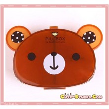Kawaii Pill or Trinket Box - Clear Brown Bear!