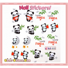 Rare Kawaii Nail Stickers! Lovely Panda!
