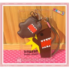 Domo-Kun Luggage Tag and ID Holder w/ Plush Charm