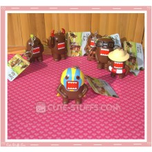 Kawaii Domo Kun Large Keychain - Wrestling Mask