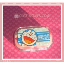 Kawaii Sparkle Travel Lens Case or Trinket Box! - Doraemon Stripes