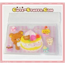 Kawaii San-X ID Card Holder - Rilakkuma Sweet Cakes