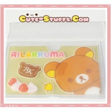 Kawaii San-X ID Card Holder - Rilakkuma Strawberries