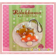 Kawaii Rare Discontinued Overseas Edition - Rilakkuma Strap! - Mushroom!