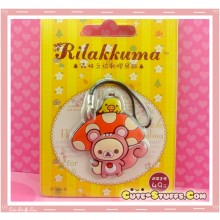 Kawaii Rare Discontinued Overseas Edition - Korilakkuma Strap! - Mushroom!