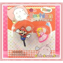 Kawaii Ipod Iphone Ipad Dust Plug Set Mario & Princess