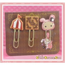 Kawaii RARE Sentimental Circus Shappo Clip Set Brown
